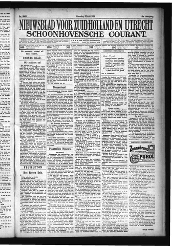 Schoonhovensche Courant 1929-07-22
