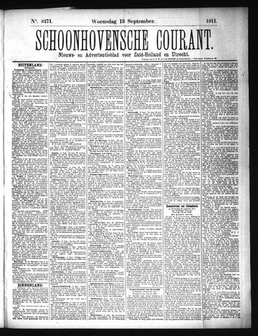 Schoonhovensche Courant 1911-09-13