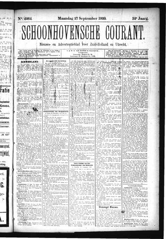 Schoonhovensche Courant 1920-09-27