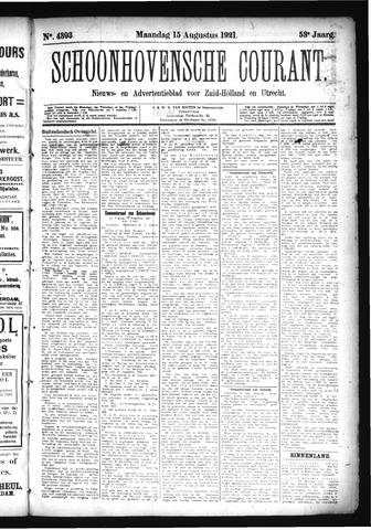 Schoonhovensche Courant 1921-08-15