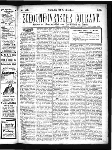 Schoonhovensche Courant 1919-09-22
