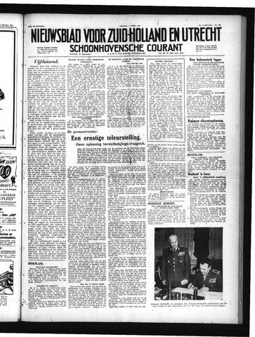 Schoonhovensche Courant 1949-04-01