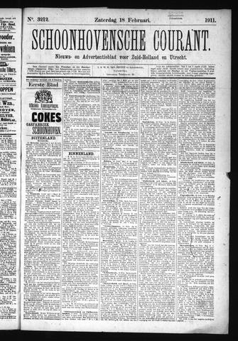 Schoonhovensche Courant 1911-02-18