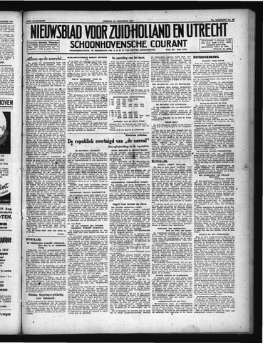 Schoonhovensche Courant 1947-08-22
