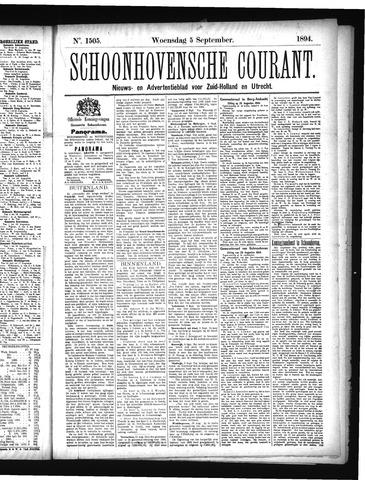 Schoonhovensche Courant 1894-09-05