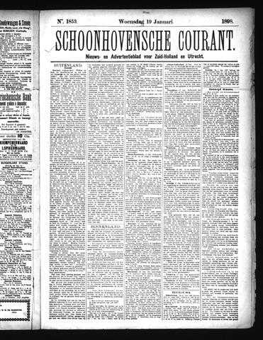 Schoonhovensche Courant 1898-01-19