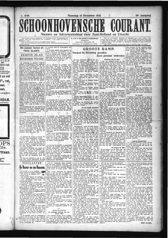 Schoonhovensche Courant 1923-12-10