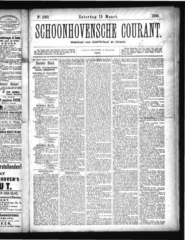 Schoonhovensche Courant 1890-03-15