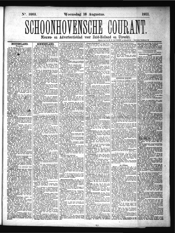 Schoonhovensche Courant 1911-08-16