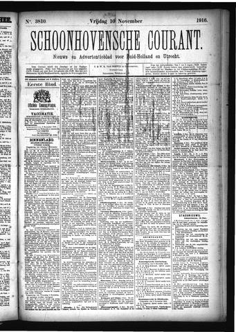 Schoonhovensche Courant 1916-11-10
