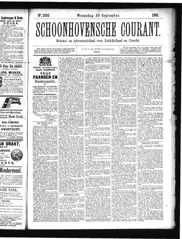 Schoonhovensche Courant 1891-09-30