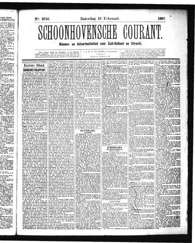 Schoonhovensche Courant 1907-02-16