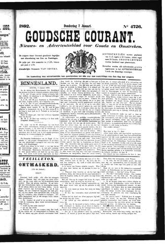 Goudsche Courant 1892-01-07