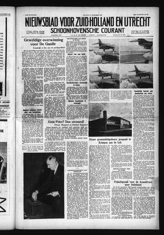 Schoonhovensche Courant 1958-09-29