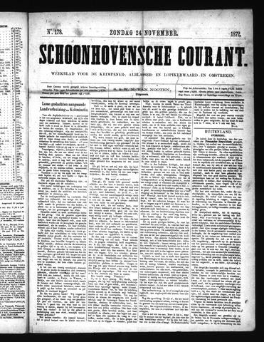 Schoonhovensche Courant 1872-11-24