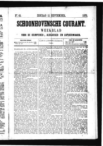 Schoonhovensche Courant 1870-09-11