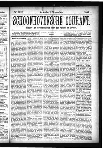 Schoonhovensche Courant 1894-11-03