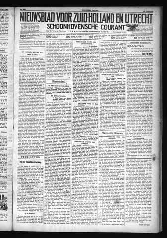 Schoonhovensche Courant 1931-07-08