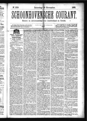 Schoonhovensche Courant 1892-11-19