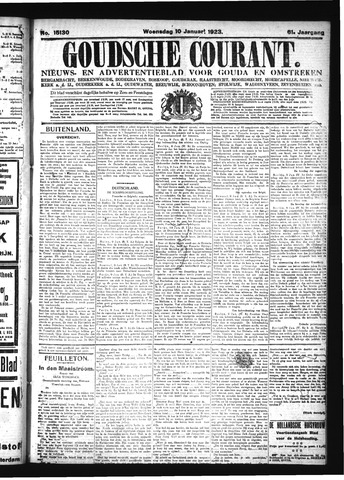 Goudsche Courant 1923-01-10