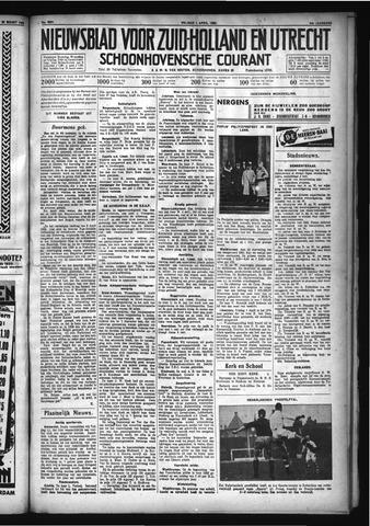 Schoonhovensche Courant 1932-04-01