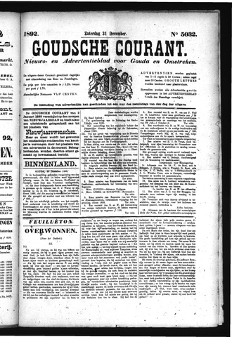 Goudsche Courant 1892-12-31