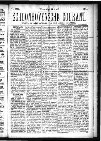 Schoonhovensche Courant 1914-06-17