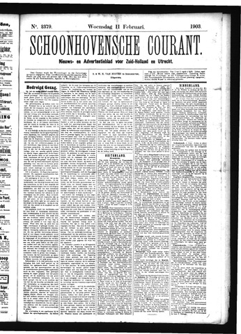 Schoonhovensche Courant 1903-02-11