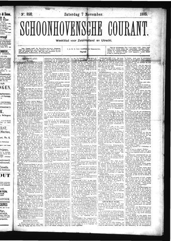 Schoonhovensche Courant 1885-11-07