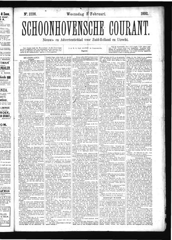 Schoonhovensche Courant 1892-02-03