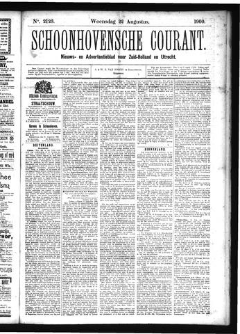 Schoonhovensche Courant 1900-08-22