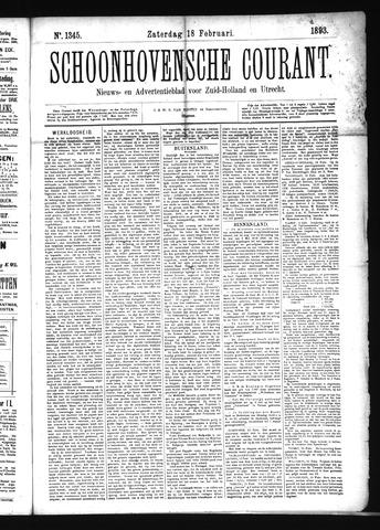 Schoonhovensche Courant 1893-02-18