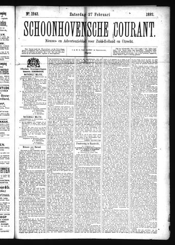Schoonhovensche Courant 1892-02-27