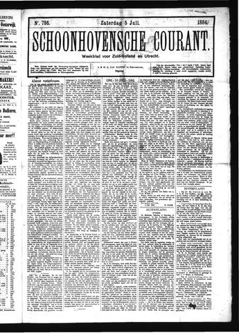 Schoonhovensche Courant 1884-07-05