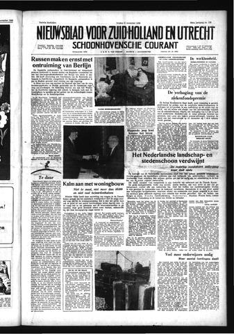 Schoonhovensche Courant 1958-11-21