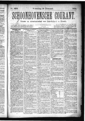 Schoonhovensche Courant 1912-02-28