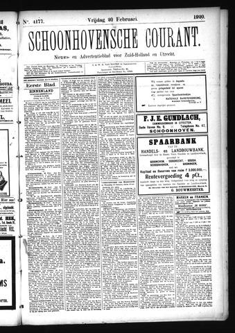 Schoonhovensche Courant 1920-02-20