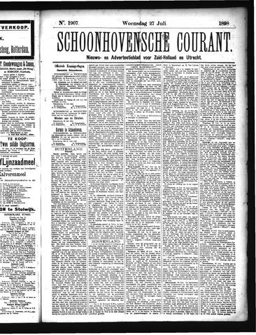 Schoonhovensche Courant 1898-07-27