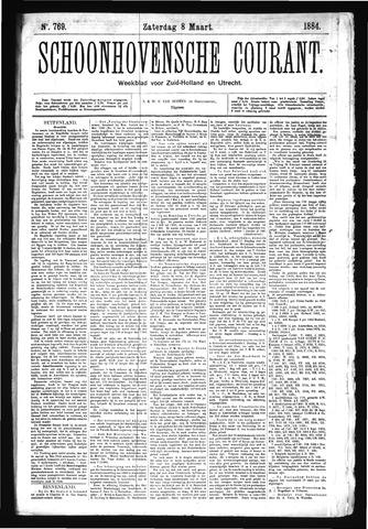 Schoonhovensche Courant 1884-03-08