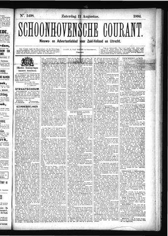 Schoonhovensche Courant 1894-08-11