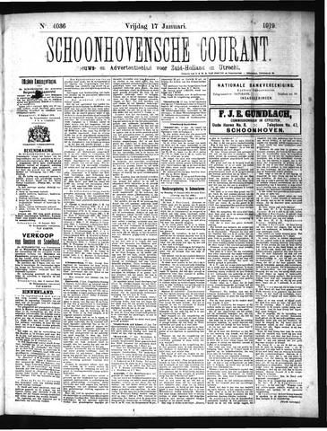 Schoonhovensche Courant 1919-01-17