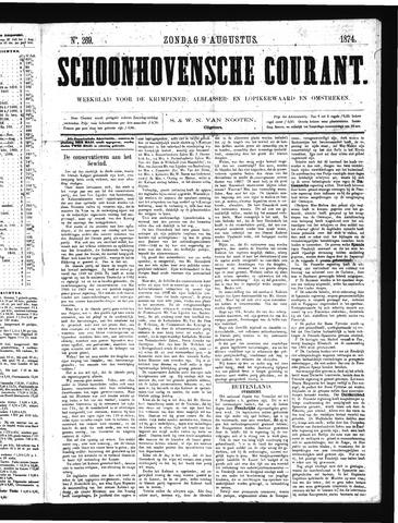 Schoonhovensche Courant 1874-08-09