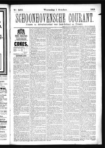 Schoonhovensche Courant 1913-10-01