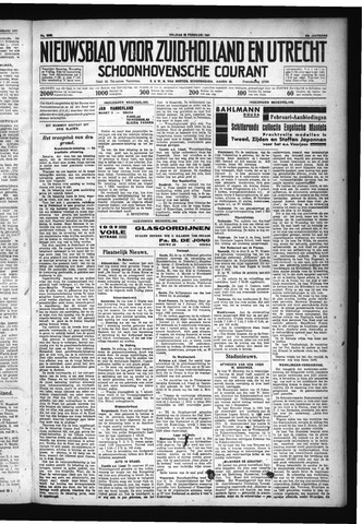 Schoonhovensche Courant 1931-02-20