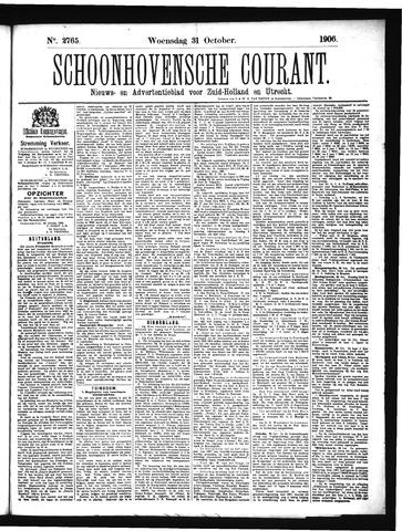 Schoonhovensche Courant 1906-10-31