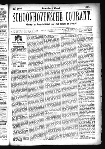 Schoonhovensche Courant 1898-03-05