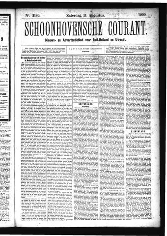 Schoonhovensche Courant 1900-08-11