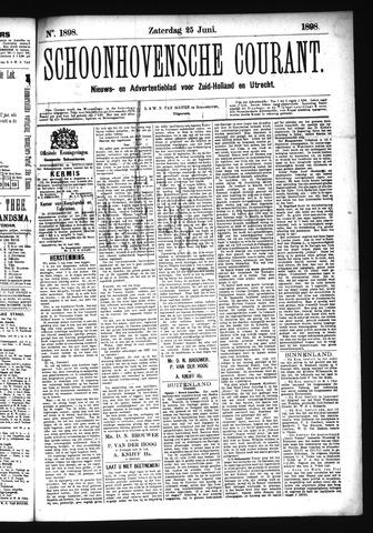 Schoonhovensche Courant 1898-06-25