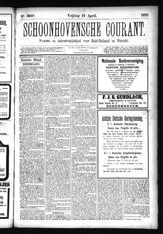 Schoonhovensche Courant 1918-04-12