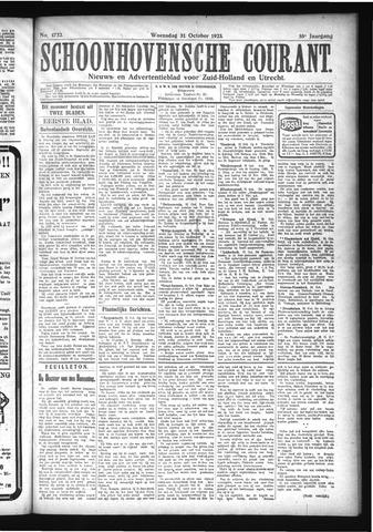 Schoonhovensche Courant 1923-10-31